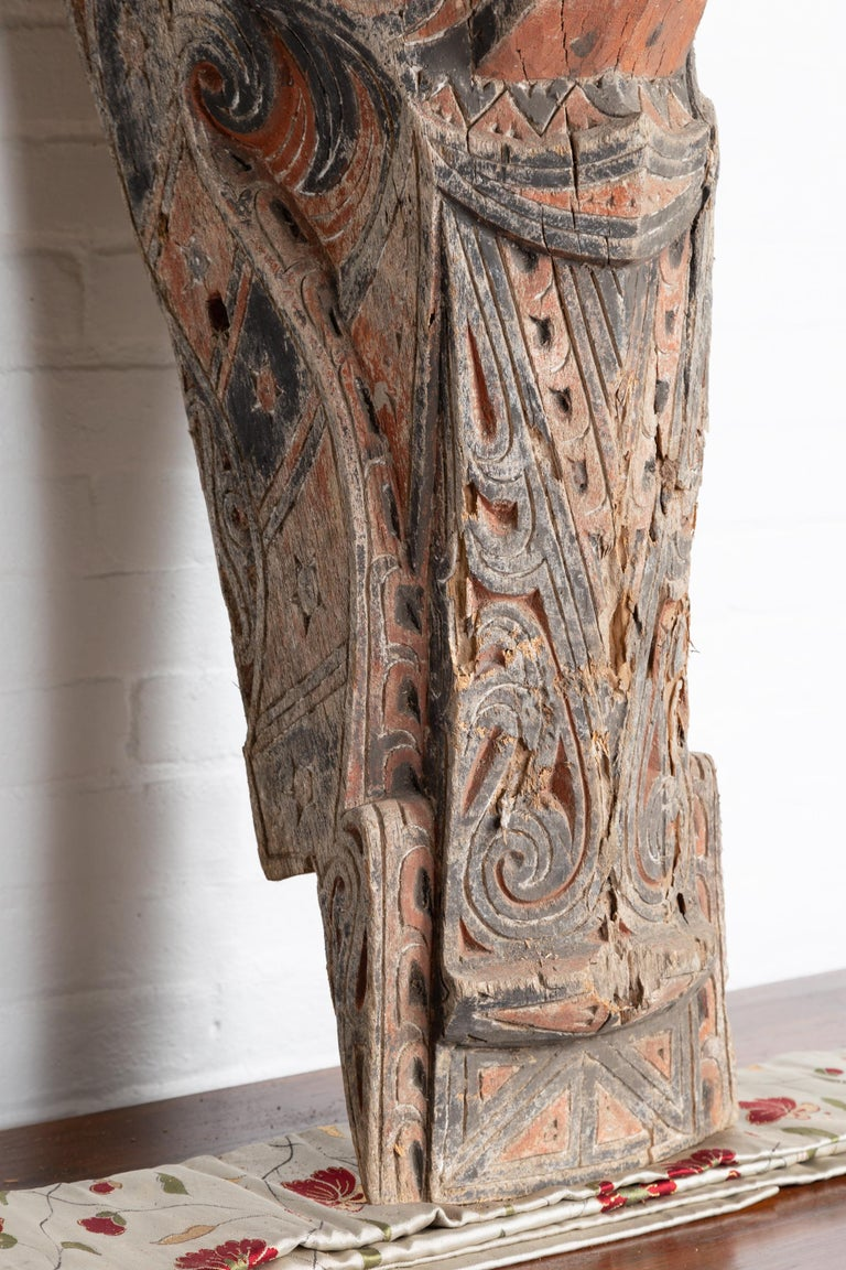 Large Hand Carved Singa Singa Tribal Carving from the Batak People, Sumatra For Sale 2