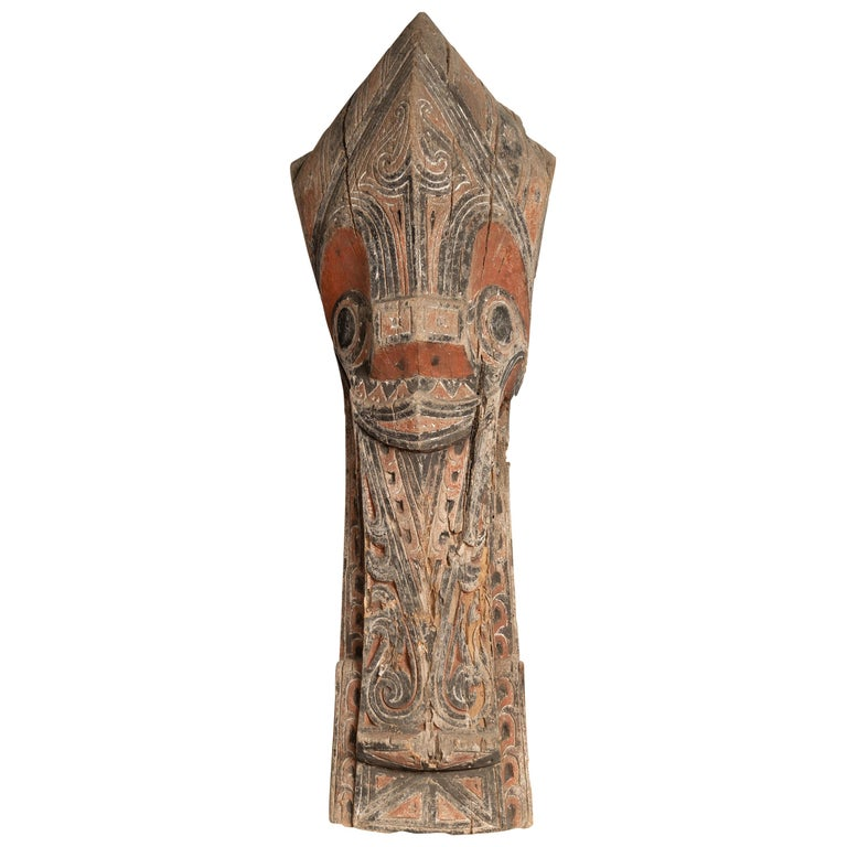 Large Hand Carved Singa Singa Tribal Carving from the Batak People, Sumatra For Sale