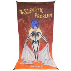 Large Hand-Painted American Circus Sideshow Banner, circa 1960s