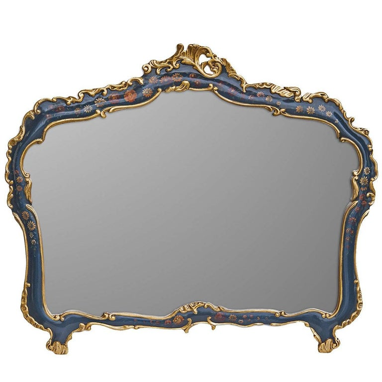Large Hand-Painted Mirror