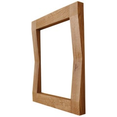 Large Handcrafted Oak Furrow Mirror