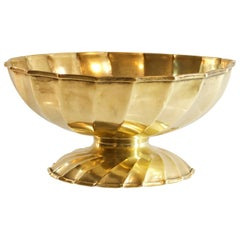Large Handmade Brass Bowl by Metall Art Italy