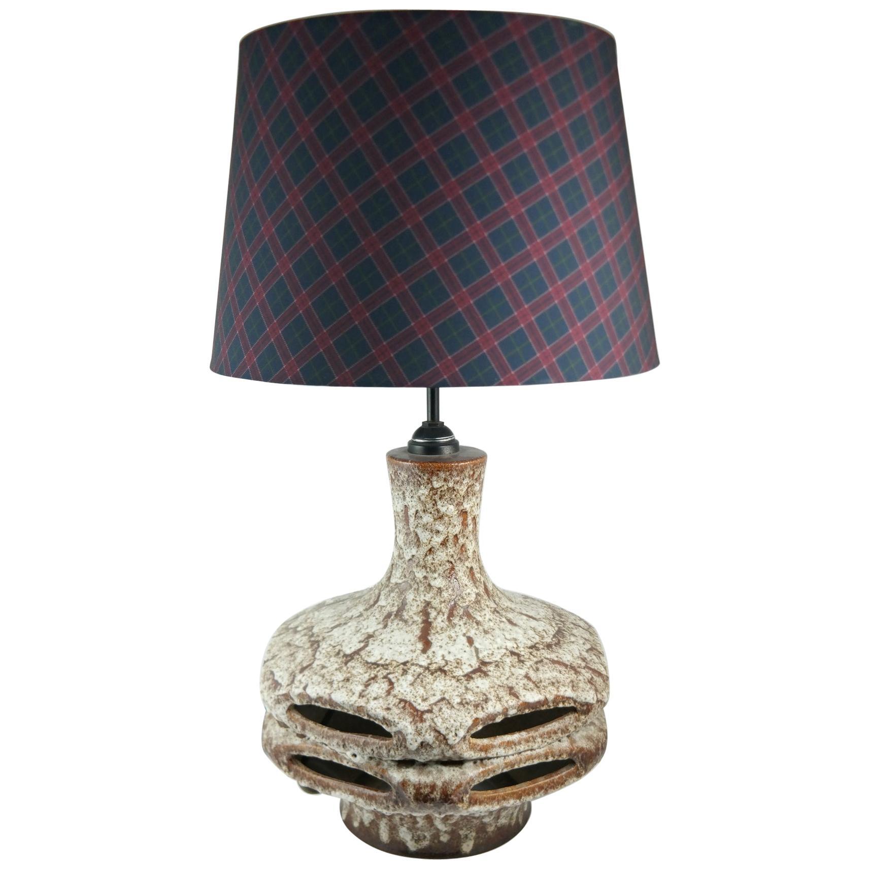 Large Handmade Midcentury Ceramic Table Lamp, 1970s