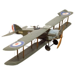 Large Handmade Replica Bristol F.2b Fighter Model Airplane, circa 1930