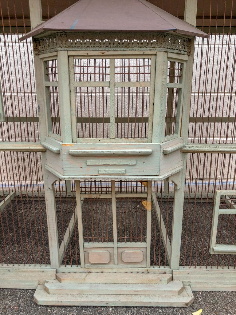 Large Handmade Vintage French Dove Cote Bird Cage Quot With A