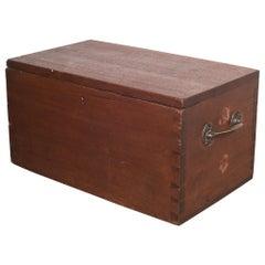 Large Handmade Wood and Brass Box c.1880-1920