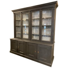 Large Handsome Antique Cabinet / Library Tall Boy-French