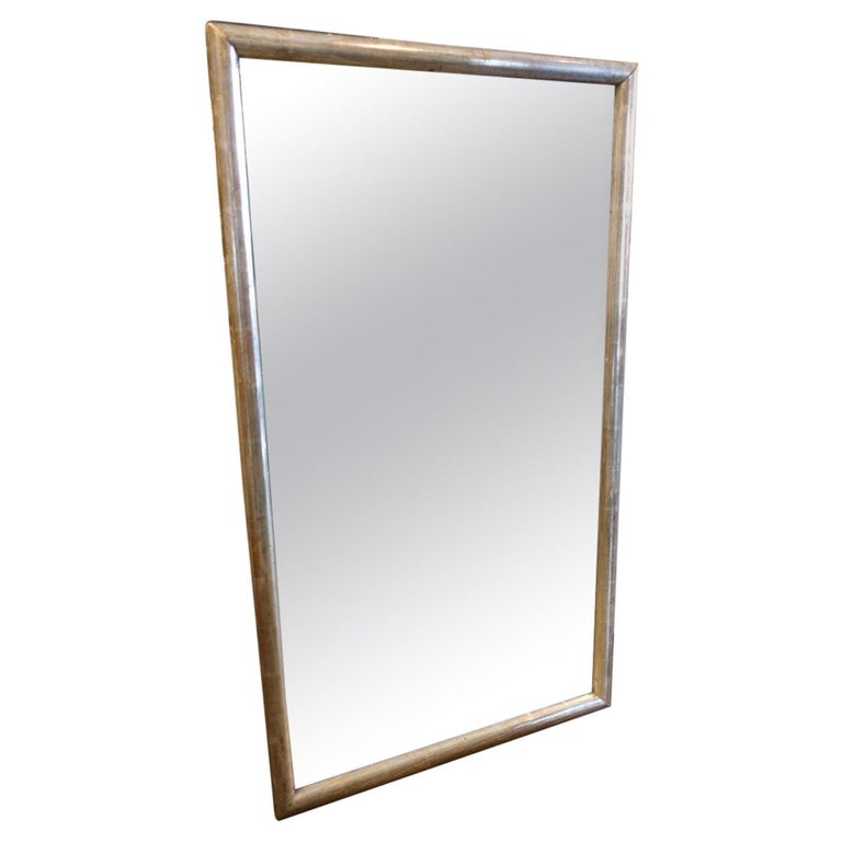 Large Handsome Antique French Silver Framed Mirror Circa 1880 1890 For Sale At 1stdibs