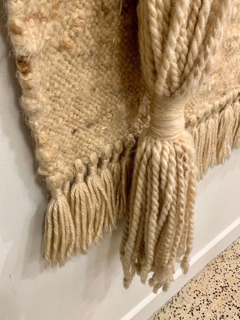 American Large Handwoven Wool Wall Art / Tapestry Attributed to Jane Knight For Sale