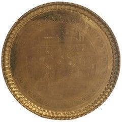 Large Hanging Egyptian Brass Tray Platter