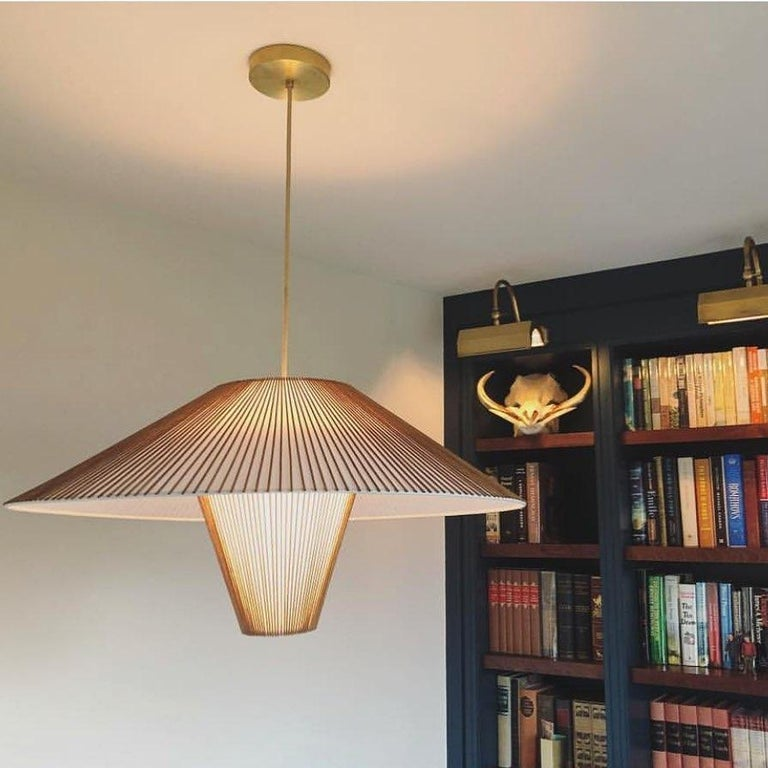 Large Hanging Pendant with Birch Dowels by Mel Smilow In New Condition For Sale In New York, NY