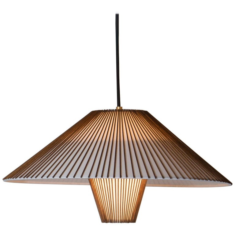Large Hanging Pendant with Birch Dowels by Mel Smilow For Sale