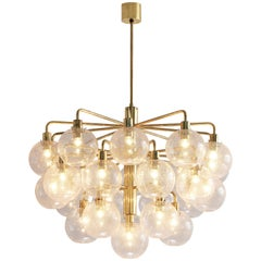 Large Hans-Agne Jakobsson Chandelier with Glass Spheres