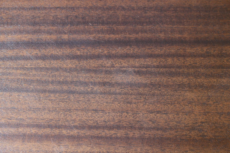 Large Harvey Probber Mahogany and Brass Dining Table For Sale 1