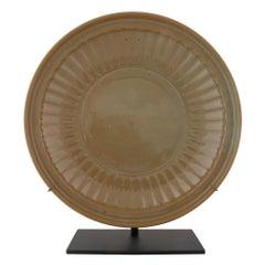 Large Heavily Glazed Chinese Shallow Bowl