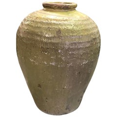 Large Heavy Earthenware Pottery Vase Pot Jar