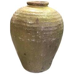 Large Heavy Earthenware Pottery Vase Pot Jar