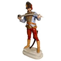 Large Herend Hadik Hussar Field Marshal of the Habsburg Army Porcelain Figurine