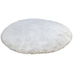 Large High Pile Large Round Wool Rug