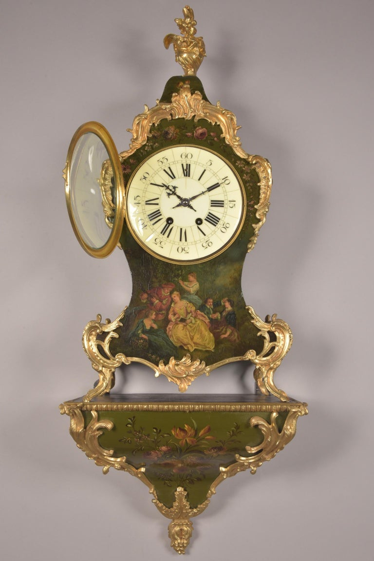 Large High Quality French Gilt Bronze Empire Pendulum with Apollo, circa 1830 For Sale 1