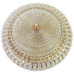 1 of 2 Large Hillebrand Brass Glass and Lucite Bead Wall Lights, Germany, 1960s