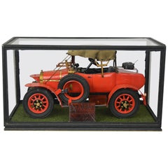 Large Hillman 8.9 Hp 1913 Model Car of Dr. H. Crippen, Handcrafted, 1960s