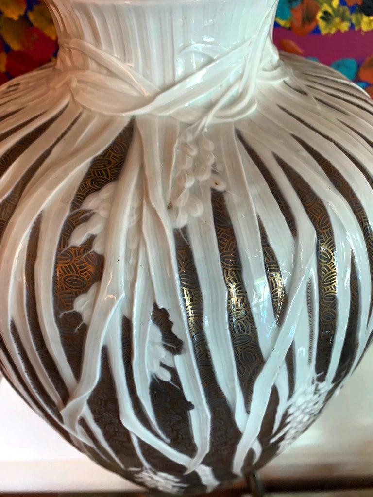 Large Historical Presentation Porcelain Vase Meiji For Sale 1