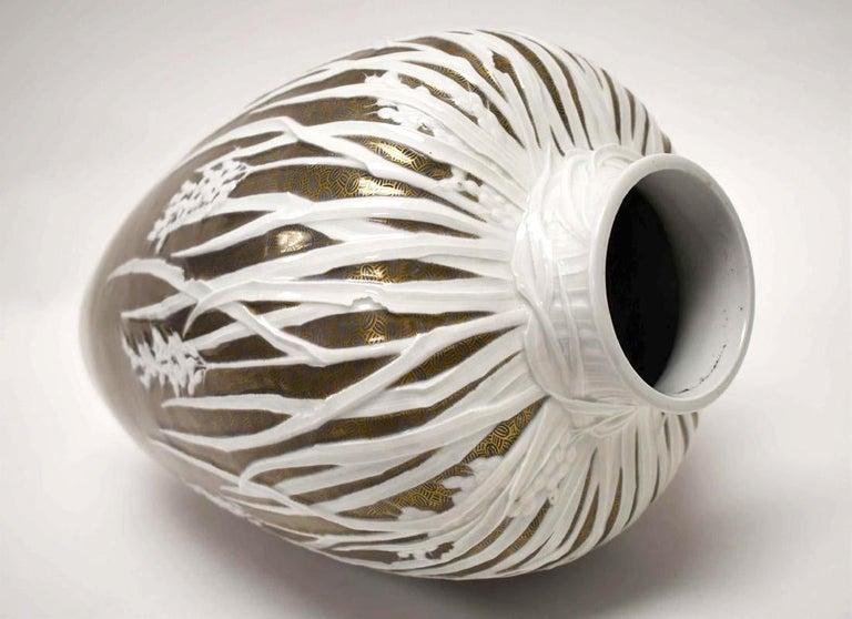 Large Historical Presentation Porcelain Vase Meiji In Good Condition For Sale In Atlanta, GA