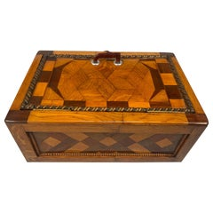 Large Historicism Box, Different Hardwoods, South Germany, circa 1860-1880