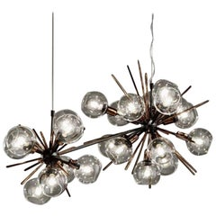 Large Horizontal Duo  - Blown Glass Pendant Lamp
