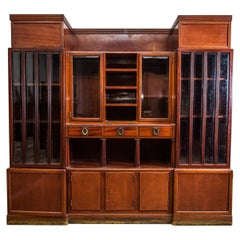 Large Hungarian Antique Cabinet Attributed to Adolf Loos for FO Schmidt