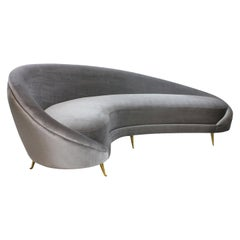 Large Iconic Sculptural Sofa in the Style of Ico Parisi