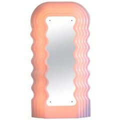Large Illuminated Floor Mirror by Ettore Sottsass