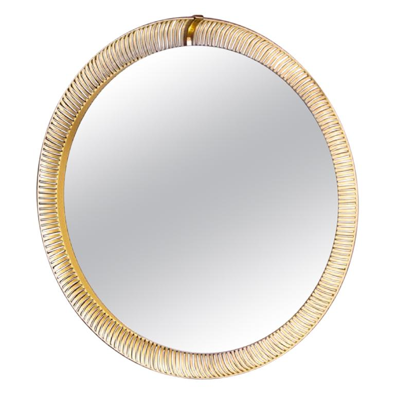 Large, Illuminated Wall Mirror For Sale at 1stdibs