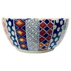 Large Imari Porcelain Punchbowl