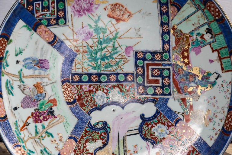 Asian Large Imari Style Charger For Sale