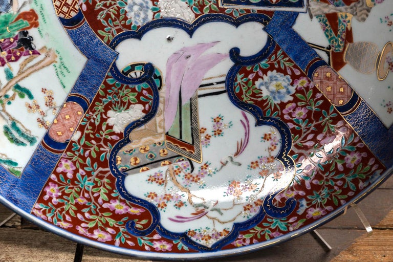 Hand-Painted Large Imari Style Charger For Sale