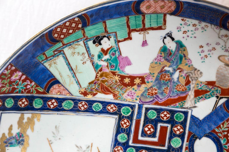 Large Imari Style Charger In Good Condition For Sale In Woodbury, CT