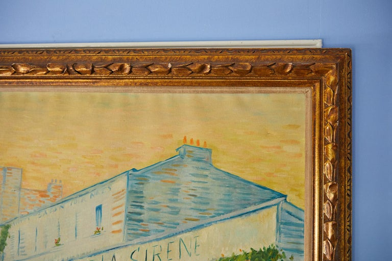 Large Impressionist Painting of a French Street Scene For Sale 4