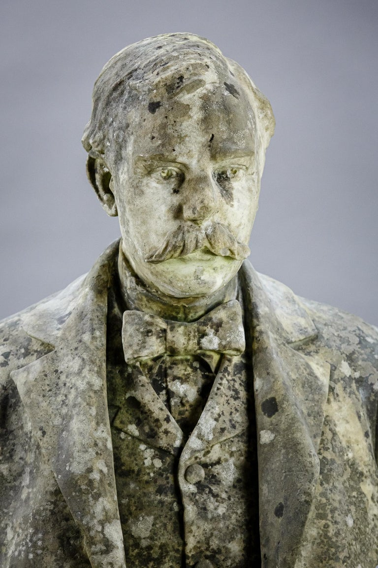 Large Impressive 19th Century English Marble Bust For Sale 1