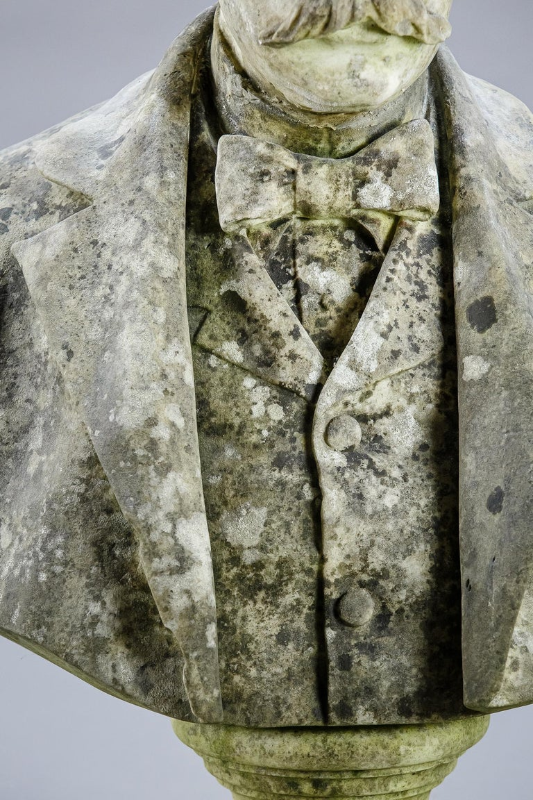 Large Impressive 19th Century English Marble Bust For Sale 2