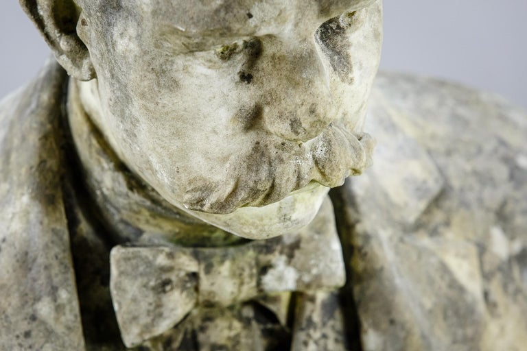Large Impressive 19th Century English Marble Bust For Sale 3