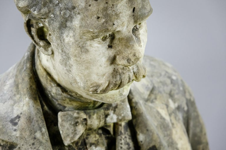 Large Impressive 19th Century English Marble Bust For Sale 4