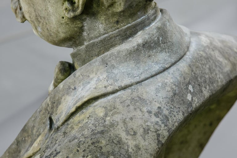 Large Impressive 19th Century English Marble Bust For Sale 5