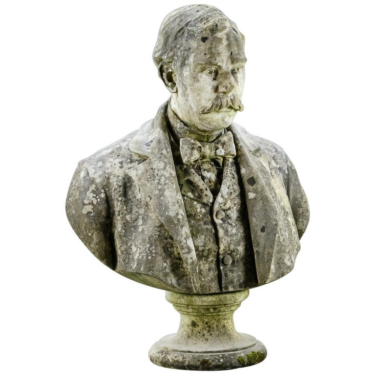 Large Impressive 19th Century English Marble Bust For Sale