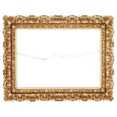 Large Impressive 19th Century Rococo Revival Gilt Frame