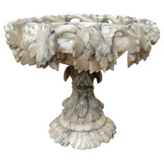 Large Impressive and Finely Carved Italian Antique Alabaster Ornamental Tazza