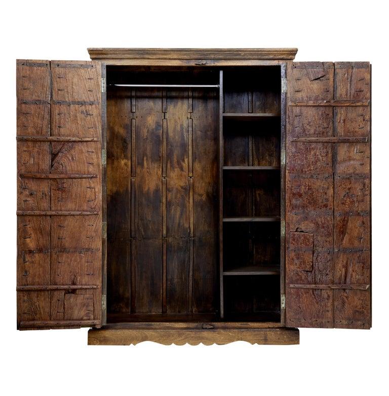 Anglo-Indian Large impressive hardwood wardrobe For Sale