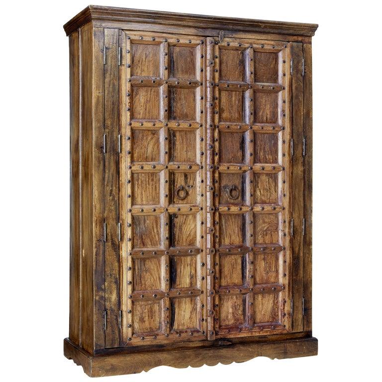 Large impressive hardwood wardrobe For Sale