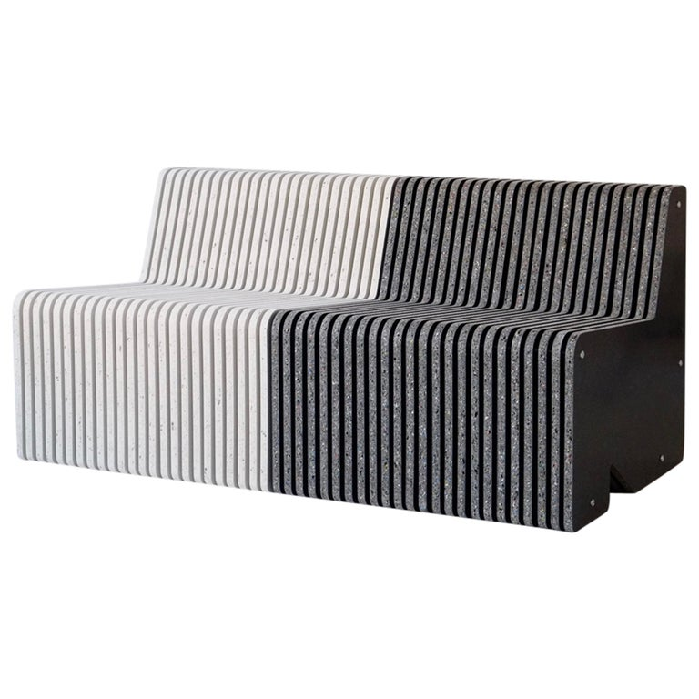 Sustainable Large Indoor / Outdoor Jää Bench Made with 100% Recycled Plastic For Sale